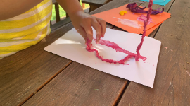 Fun worm activity for children