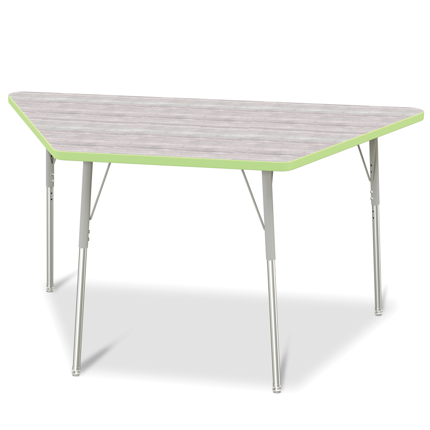 Gray//Blue//Blue 30 X 60 A-height Berries Kids Trapezoid Activity Tables