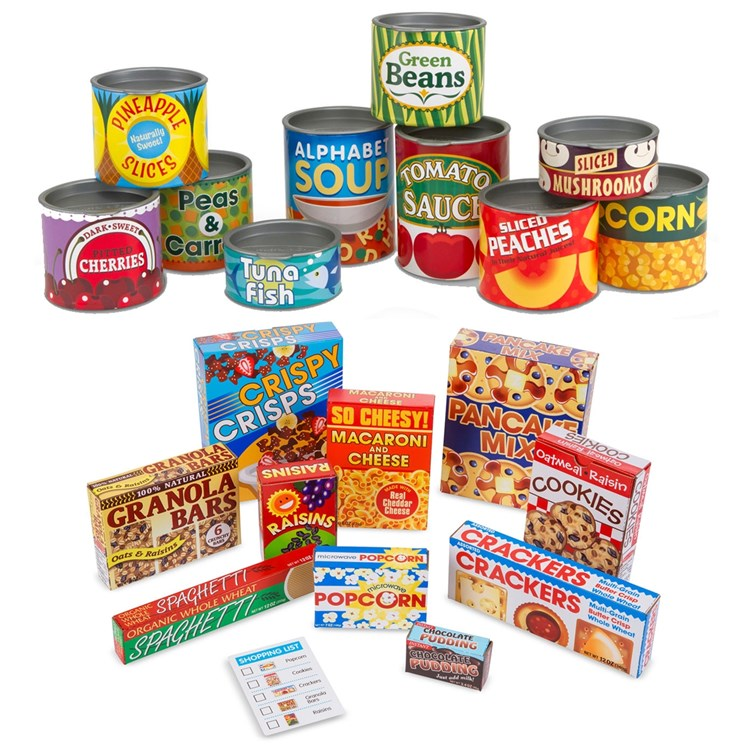 Pretend Grocery Canned Boxed Food Set Becker S School Supplies