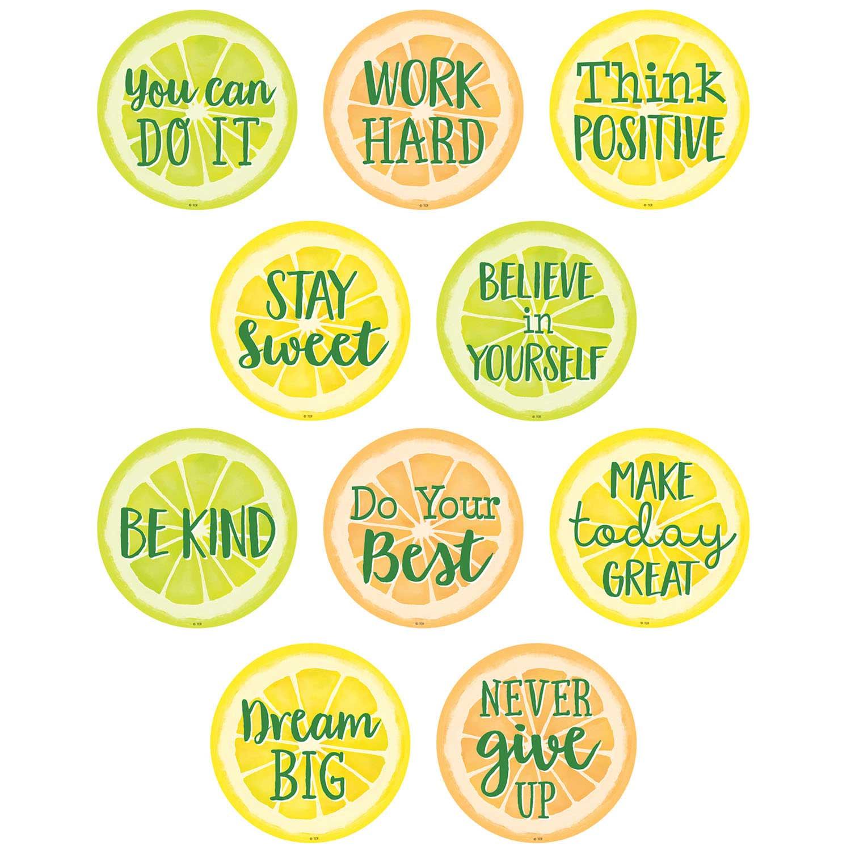 Lemon Zest Positive Sayings Accents Becker S